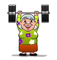 Strong old lady vector