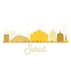 Surat city skyline golden silhouette vector