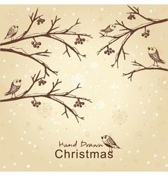 winter retro card vector image vector image