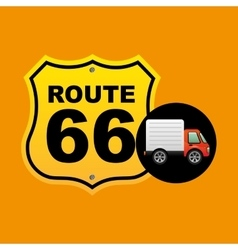 route 66 traffic sign concept vector image