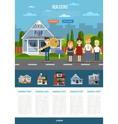 Real estate agency website template vector