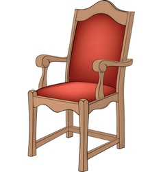 Red chair vector image