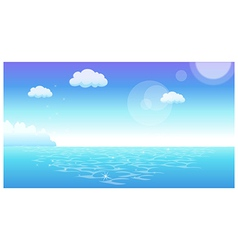 Horizon sea view background vector