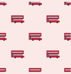 Euro trip tourism travel design double decker bus vector