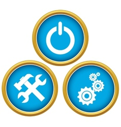 Repairs icons vector image