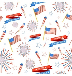 Seamless pattern for 4th of july vector