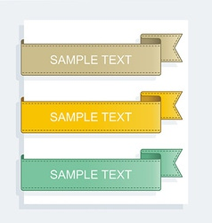 Collection ribbons vector