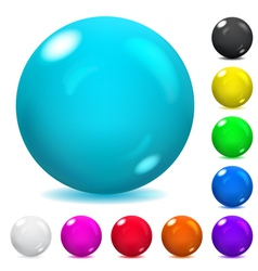 Multicolored spheres vector