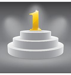 3d podium vector image