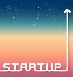 Startup new business with space on backgrou vector