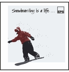 Skiing extreme snowboard vector