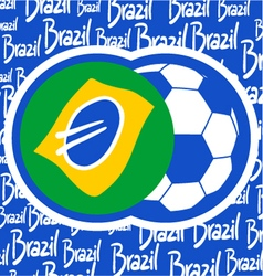 Brazil soccer sign vector