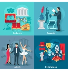 Theater flat set vector