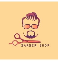Vintage barber shop label vector