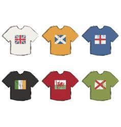 flag t-shirts vector image