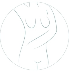 Silhouette of nude woman vector