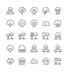 Cloud computing cool icons 3 vector
