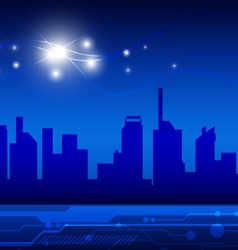 High technology city vector image