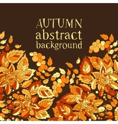 Autumn abstract background template for design of vector