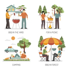 Barbecue 2x2 Design Concept vector image vector image