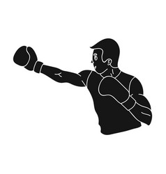 brown boxer in boxing glovesthe active sport of vector image