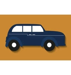 Car antique old design vector