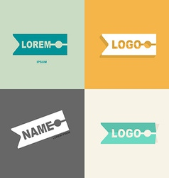 clothespin clothes logo design pattern for sewing vector image vector image