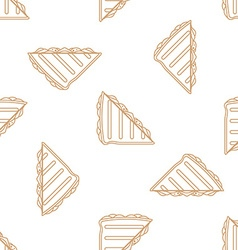 club sandwich outline seamless pattern vector image vector image