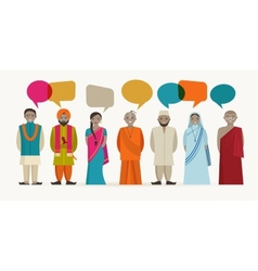 Indian people talk - different indian religious vector image vector image