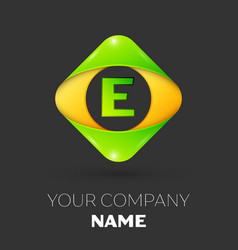 Letter e logo symbol in colorful rhombus vector