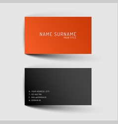 Modern minimalistic business card template vector