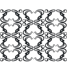 Ornament in black 11 vector image vector image