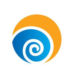 Round circle swirl ecology logo vector