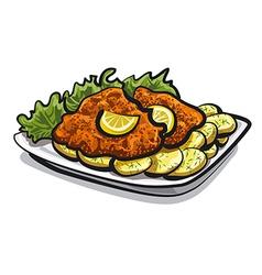 schnitzel vector image