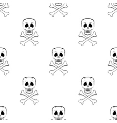 Scull Cross Bones Seamless Pattern vector image vector image