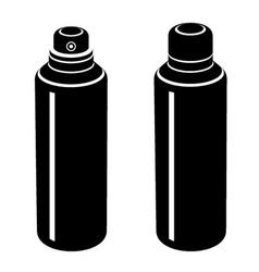spray can black symbol vector image vector image