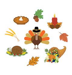 Thankgiving day set vector image vector image