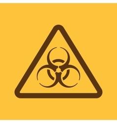 The biohazard icon biohazard symbol flat vector