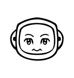 thin line silence face icon vector image