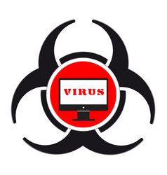 Virus pc icon vector