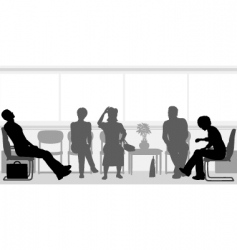 waiting room vector image vector image