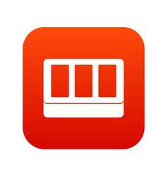 white window frame icon digital red vector image