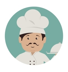 Chef character service icon vector
