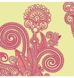 hand draw ornate flower design element vector image