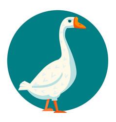 White goose vector