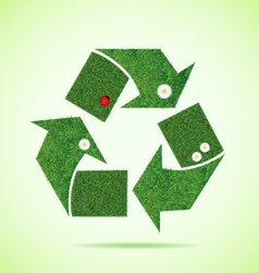 Grass recycle icon vector image