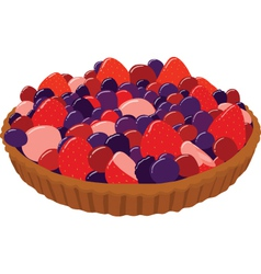 Fresh Berry Tarts vector image