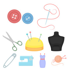 atelie set icons in cartoon style big collection vector image