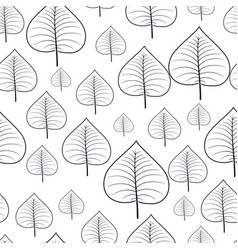 Pattern seamless with autumn leaves vector