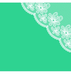 White lacy corner vector